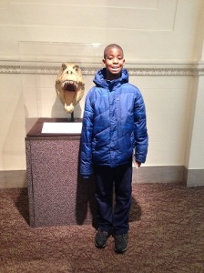 Tavares enjoying himself at the Field Museum in Chicago, IL on Christmas Eve